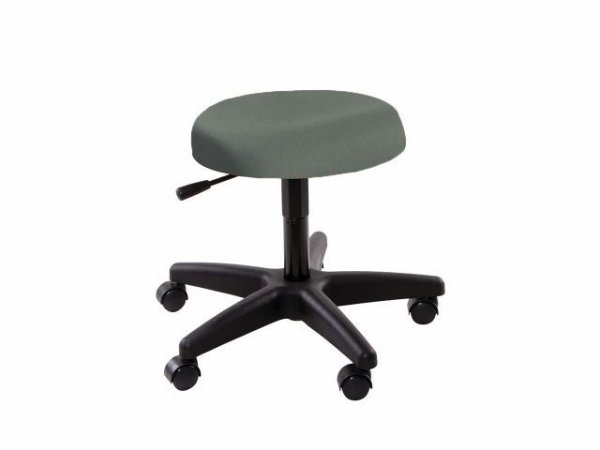 Cadeira Mocho - Sem Encosto - Base Preta - Arktus verde