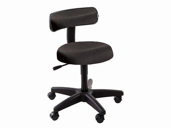 Cadeira Mocho com Encosto - 5010 - Base Preta - Arktus preto