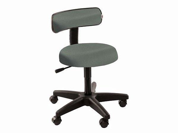 Cadeira Mocho com Encosto - 5010 - Base Preta - Arktus verde