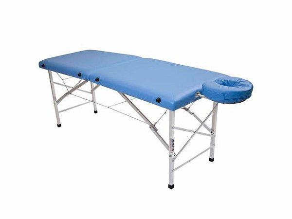 Maca De Massagem Portátil Com Altura Fixa De Alumínio E Orifício Andrômeda - Legno azul