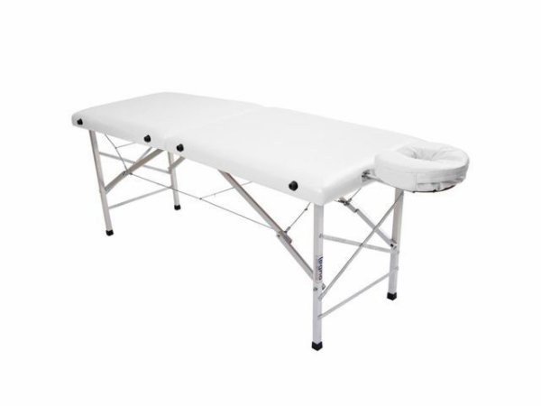 Maca De Massagem Portátil Com Altura Fixa De Alumínio E Orifício Andrômeda - Legno branco brilhante