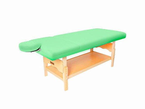 Maca De Massagem Reclinável Com Altura Regulável, Orifício Plêiades - Legno verde claro