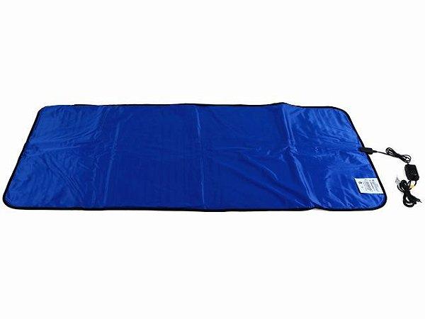 Manta Térmica Termotek - 90x180cm - Azul - Estek 110V