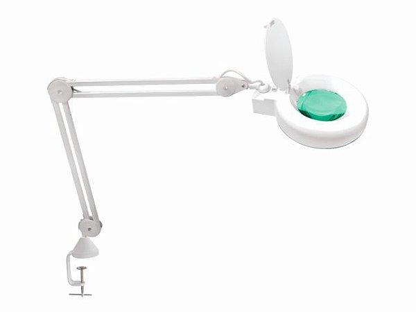 Lupa Articulada - LED 5D - com Apoio para Mesa - Solver