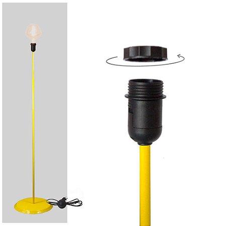 Abajur Coluna Básico - Amarelo