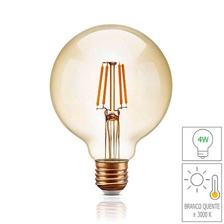 Lâmpada Filamento LED Retrô  - G95 - BIVOLT
