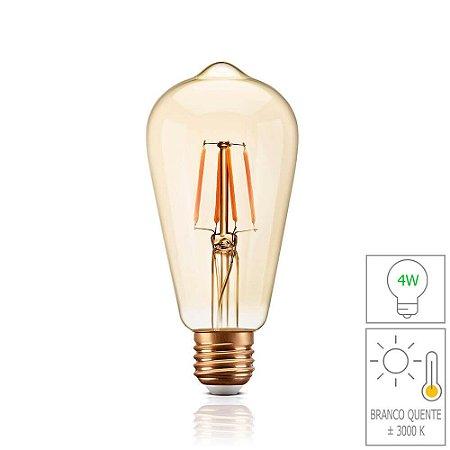 Lâmpada Filamento LED Retrô - ST64 - BIVOLT