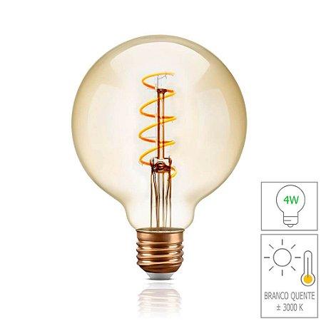 Lâmpada Filamento LED Retrô  - G95 SPIRAL - BIVOLT