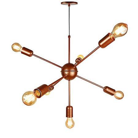 Lustre Pendente para 7 lâmpadas - Sputnik - Bronze