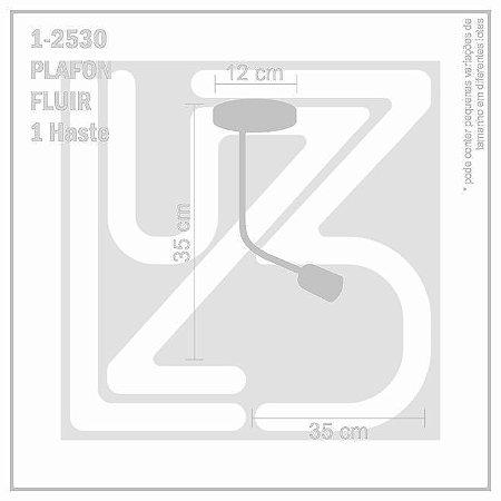 Plafon Fluir 1 haste - PRETO