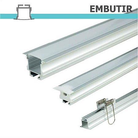 Perfil EMBUTIR para fita LED - 1 m
