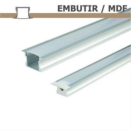 Perfil EMBUTIR MDF para fita LED - 1 m