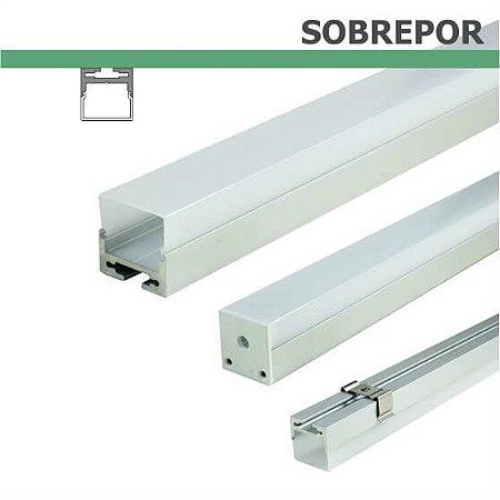 Perfil SOBREPOR para fita LED - 1 m