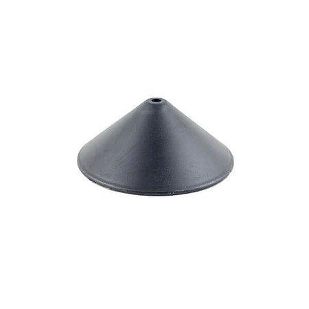 Canopla Cônica 120 mm Plástico - PRETA