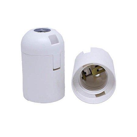 Soquete Liso Importado - Bocal E27 - BRANCO