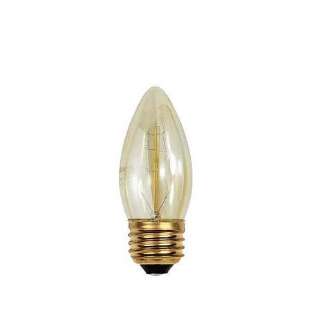 Lâmpada Filamento de Carbono C35 - 127V