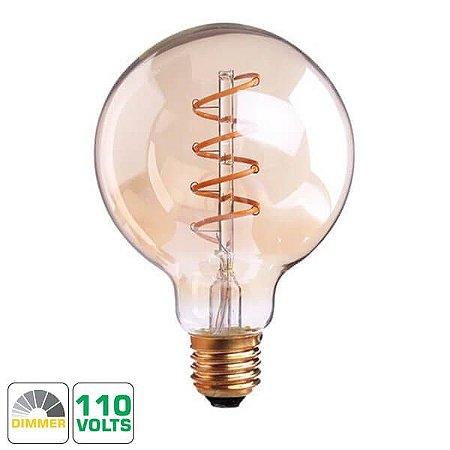 Lâmpada Filamento LED Retrô  - G95 SPIRAL - DIMERIZÁVEL 110V