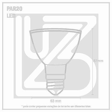 Lâmpada LED PAR 20 E-27 8W 100-240V 2700K
