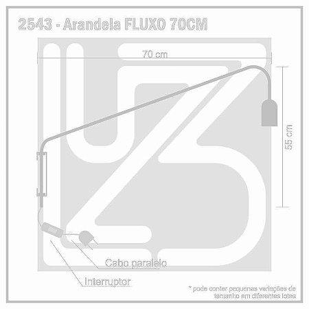 Arandela Fluxo 70 cm - PRETO