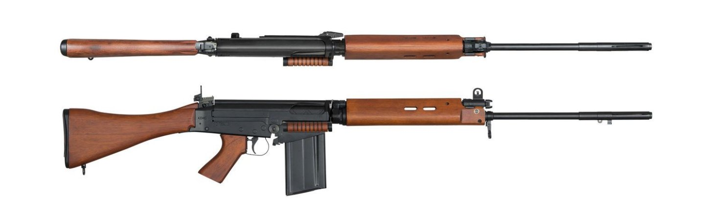 Rifle de Airsoft AEG ARES L1A1 FAL AR-024-W Madeira Cal.6mm