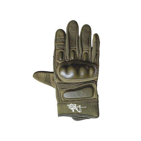 Luva de Proteção Silver Knight Verde Dedo Inteiro