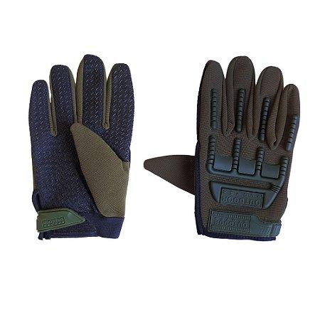 Luva de Proteção Tática - Outdoor Gloves - Verde