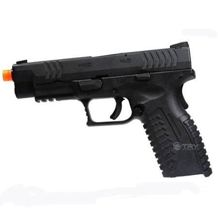 Pistola de Airsoft GBB WE XDM X-Tactical Preto Cal 6mm