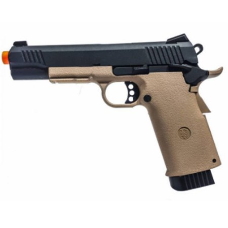Pistola de Airsoft GBB CO2 KJW KP-11 1911 Tan Cal 6mm
