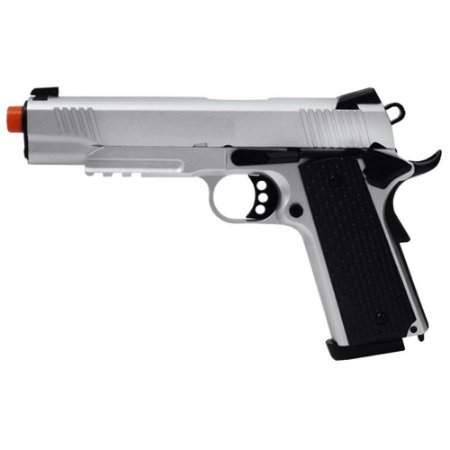 Pistola de Airsoft GBB ARMY ARMAMENT R28S 1911 Silver + Magazine Extra Cal 6mm