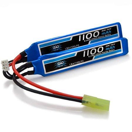 Bateria para Rifle LEÃO LIPO 7.4V 20C 1100mAh