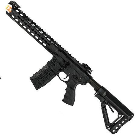 Rifle de Airsoft AEG G&G CM16 Predator Fibra de Nylon Preta Cal 6mm