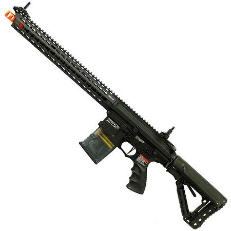 Rifle de Airsoft AEG G&G TR16 MBR 308SR Preto Cal 6mm