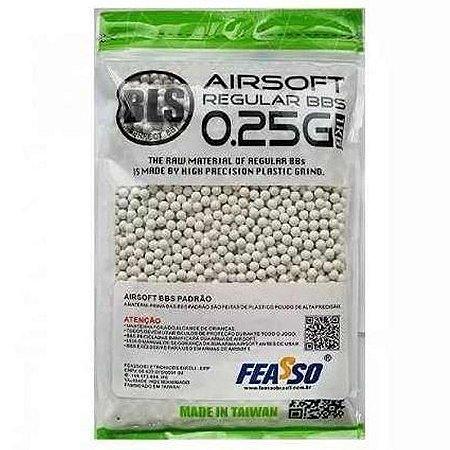 Munição para Airsoft BBs FEASSO BLS 0.25g 4000UN 1KG