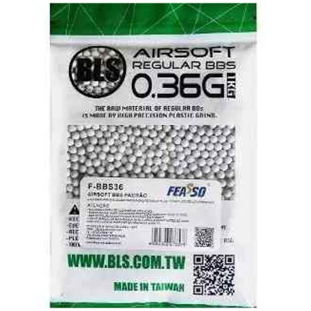 Munição para Airsoft BBs FEASSO BLS 0.36g 2700UN 1KG