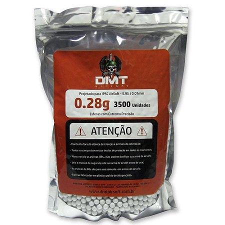 Munição para Airsoft BBs DMT 0.28g 3500UN