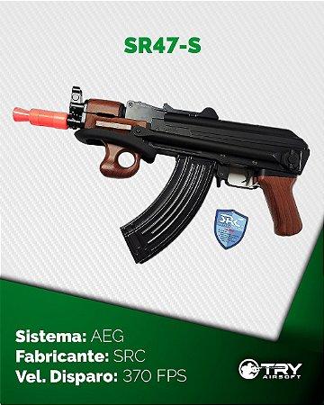 Rifle de Airsoft AEG - Ak 47 SR47-S - SRC - cal.6mm