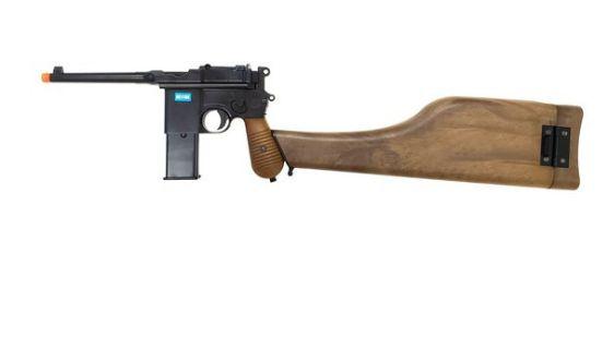 Pistola Airsoft GBB - Mauser C96 We Gbb 712-ser Black  - Cal. 6mm