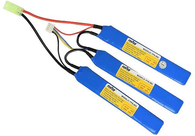 Bateria de Airsoft  LiPO  Feasso FFB 002  11.1V  15C  1500 MaH
