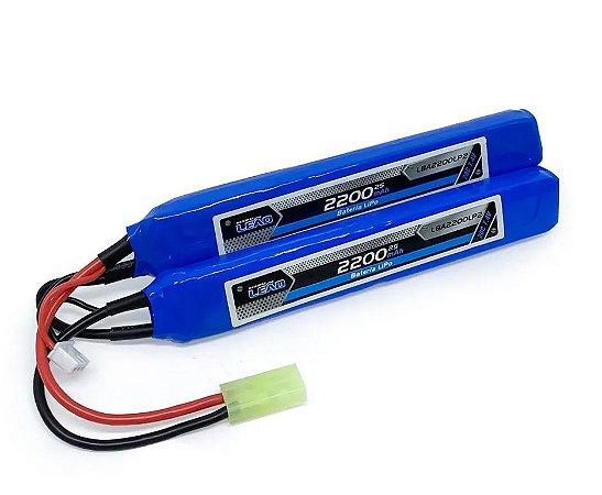 Bateria de Airsoft LEÃO LIPO 7.4V 20C 2200mAh