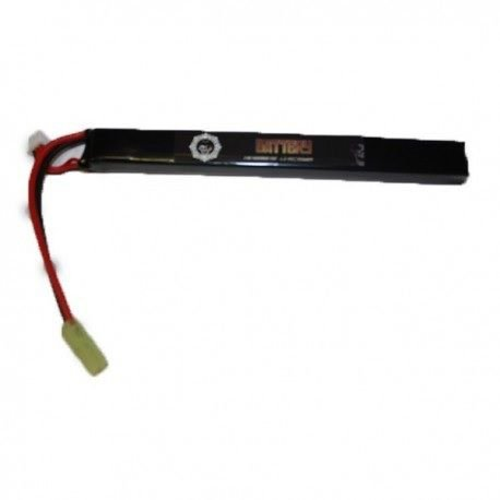 Bateria de Airsoft Duel Code Lipo 25C 7.4v 1400 Mah
