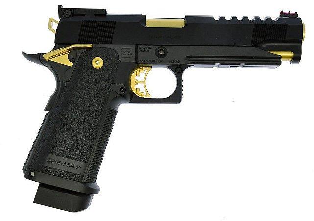 Pistola de Airsoft GBB  HiCapa Gold Match n67  Tokio Marui Cal. 6mm