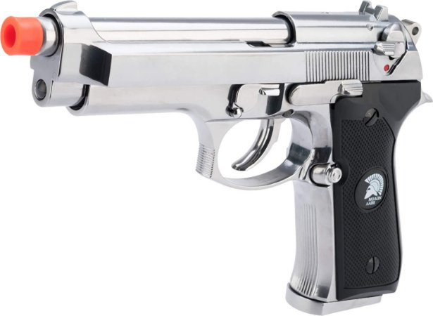 Pistola de Airsoft GBB - Matrix - M92 Chrome MTX - Cal 6mm