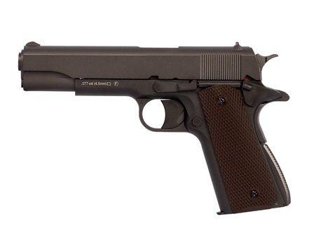 Pistola de airgun CO2 KWC 1911  cal. 4,5mm  SLIDE METAL
