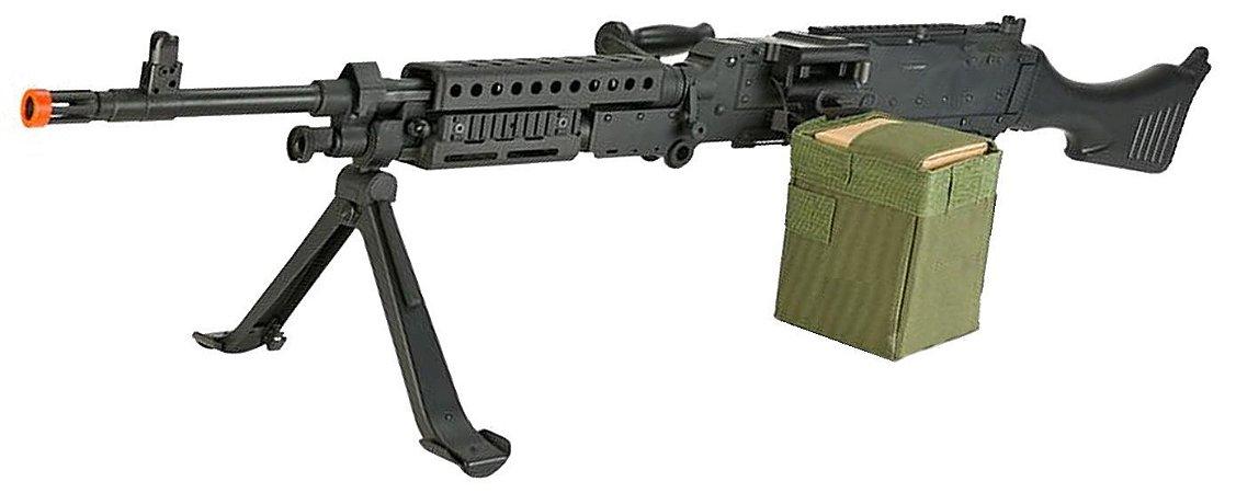 Rifle de Airsoft AEG  S&T  M240 Full Metal  Cal 6mm