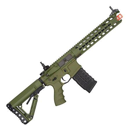 Rifle de Airsoft AEG G&G GC16 Predator Full Metal Verde Cal. 6mm