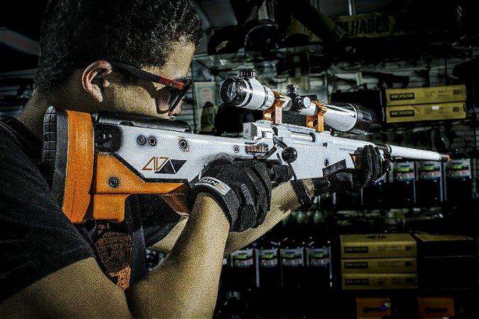 Sniper de Airsoft SPRING CYMA AWP L96 ASIIMOV 002 - EDIÇÃO LIMITADA