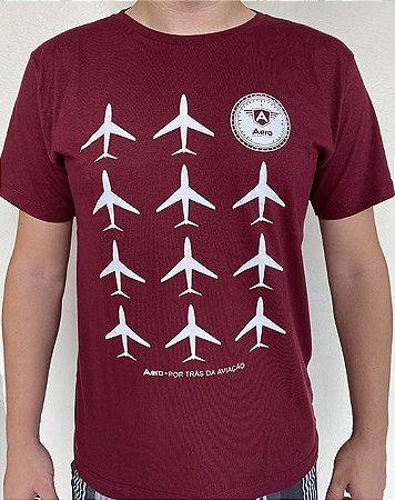 Camiseta manga curta com estampa AERO AVIÕES