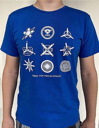 Camiseta manga curta MOTORES - Azul