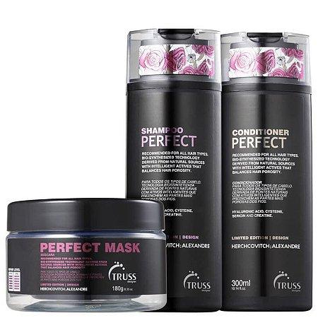 Kit Perfect - shampoo condicionador e máscara - 300 ml e 180g
