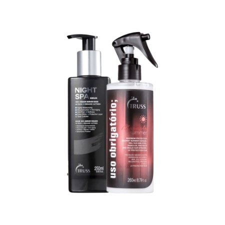 Kit Spa Obrigatório Summer - Night spa 250ml e Uso obrigatorio summer  260ml